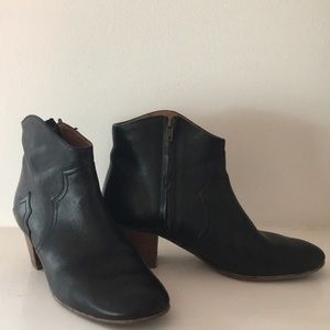 Isabel Marant black ankle boots